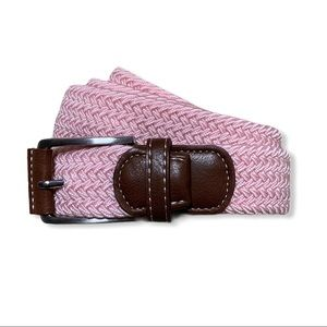 Bermuda Styles pink woven belt XL new